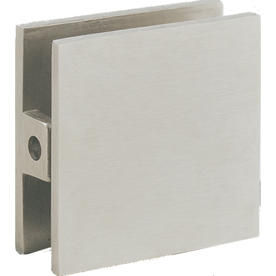 Square Wall Mount Glass Clips